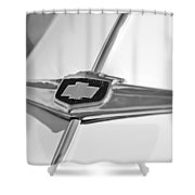 1949 Chevrolet Sedan Hood Emblem Shower Curtain