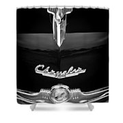 1949 Chrysler Town And Country Convertible Hood Ornament And Emblems Shower Curtain