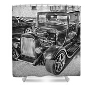 1949 Ford Pick Up Truck Bw Shower Curtain