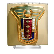 1949 Mercury Station Wagon Emblem Shower Curtain