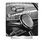 1950 Chevrolet 3100 Pickup Truck Steering Wheel Shower Curtain