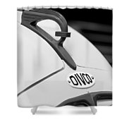 1950 Divco Milk Truck Hood Ornament Shower Curtain