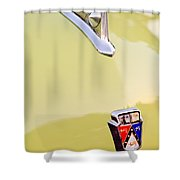 1950 Ford Hood Ornament - Emblem Shower Curtain