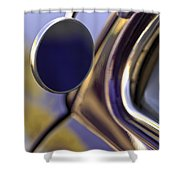 1950 Mercury Custom Lead Sled Side Mirror Shower Curtain