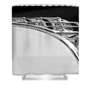 1950 Plymouth Hood Ornament Shower Curtain