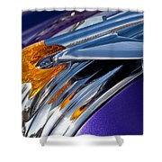 1950 Pontiac Hood Ornament Shower Curtain