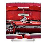 1950s Chevrolet Impala Detail Shower Curtain