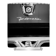 1950's Ford F-100 Pickup Truck Grille Emblems Shower Curtain