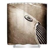 1951 Jaguar Grille Emblem Shower Curtain