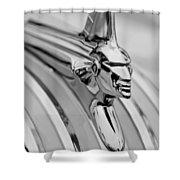 1951 Pontiac Streamliner Hood Ornament Shower Curtain