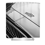1952 Cunningham C-3 Coupe Hood Emblem Shower Curtain