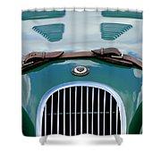 1952 Jaguar Xk 120 John May Speciale Grille Emblem Shower Curtain