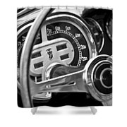 1953 Fiat 8v Ghia Supersonic Steering Wheel Shower Curtain