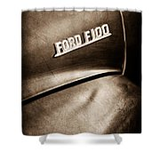 1953 Ford F-100 Pickup Truck Emblem Shower Curtain