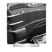 1953 Mercury Monterey Wheel Emblem Shower Curtain