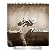 1953 Nash-healey Roadster Emblem Shower Curtain