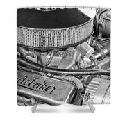 1953 Studebaker Champion Starliner Engine Shower Curtain
