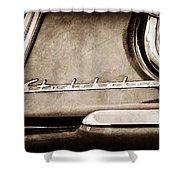 1953 Studebaker Champion Starliner Side Emblem Shower Curtain