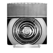 1954 Cadillac Coupe Deville Wheel Emblem Shower Curtain
