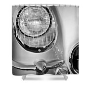 1954 Chevrolet Corvette Headlight Shower Curtain
