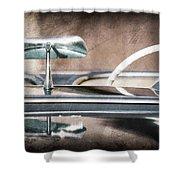 1954 Chevrolet Corvette Rearview Mirror Shower Curtain