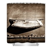 1954 Chevrolet Power Glide Emblem Shower Curtain