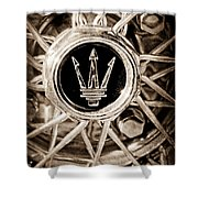 1954 Maserati A6 Gcs Wheel Rim Emblem Shower Curtain