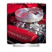 1955 Chevrolet 210 Engine Shower Curtain