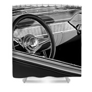 1955 Chevrolet 210 Steering Wheel Shower Curtain