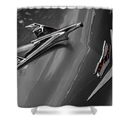 1955 Chevrolet Bel Air Eagle Shower Curtain by Ron Pate
