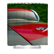 1955 Fiat 8v Zagato Hood Emblem Shower Curtain