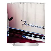 1955 Ford Crown Victoria Fordomatic Emblem Shower Curtain