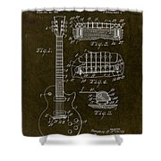 1955 Gibson Les Paul Patent Drawing Shower Curtain