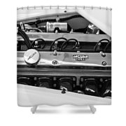 1955 Jaguar Engine Shower Curtain