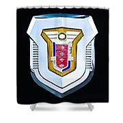 1955 Mercury Montclair Convertible Emblem Shower Curtain