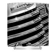 1956 Chevrolet 3100 Pickup Truck Grille Emblem Shower Curtain