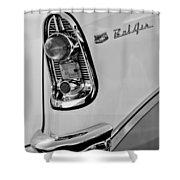1956 Chevrolet Belair Taillight Emblem Shower Curtain