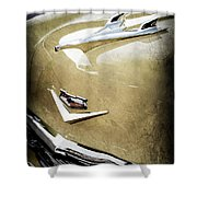 1956 Chevrolet Hood Ornament - Emblem Shower Curtain