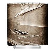 1956 Chevrolet Hood Ornament Shower Curtain