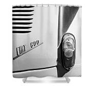 1956 Fiat 600 Taillight Emblem Shower Curtain