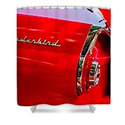 1956 Ford Thunderbird Taillight Emblem Shower Curtain