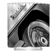 1956 Mercury Montclair Wheel Emblem Shower Curtain