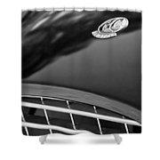 1957 Ac Ace Bristol Roadster Hood Emblem Shower Curtain