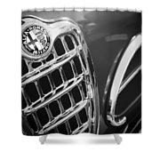 1957 Alfa-romeo 1900c Super Sprint Grille Emblem Shower Curtain