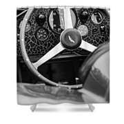 1957 Aston Martin Dbr2 Steering Wheel Shower Curtain by Jill Reger