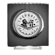 1957 Chevrolet Corvette Emblem Shower Curtain
