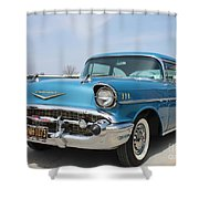 1957 Chevy Bel-air Shower Curtain