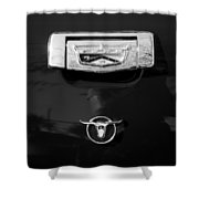 1957 Ford Custom 300 Series Ranchero Emblem Shower Curtain