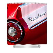 1957 Ford Custom 300 Series Ranchero Taillight Emblem Shower Curtain