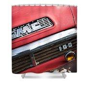 1957 Gmc V8 Pickup Truck Grille Emblem Shower Curtain